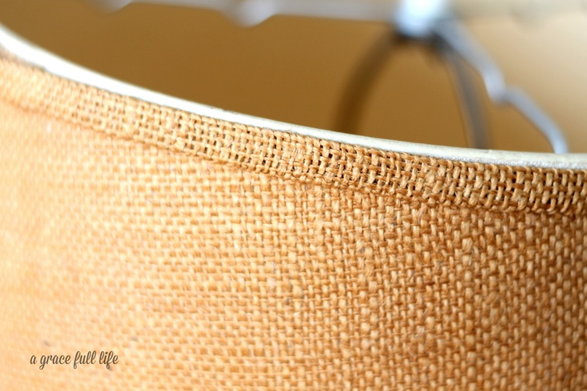 Goodwill Lamp Burlap Shade