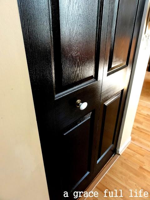 black closet door