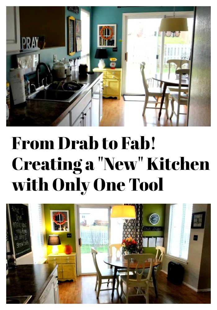 From drab to fab! Creating a new kitchen with only one tool!