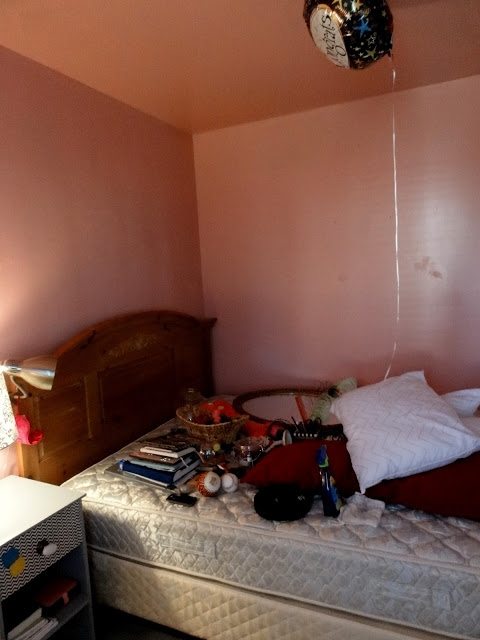 See how this pink made the room darker than that light blue?