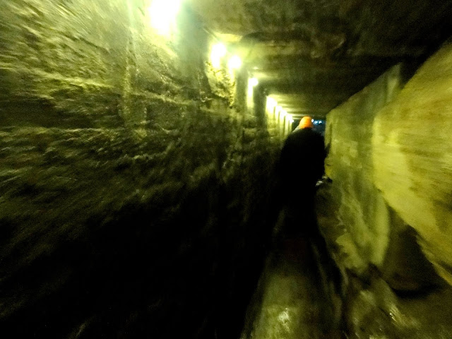 Underground tunnel.