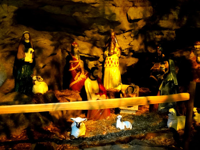 Nativity in the rocks.