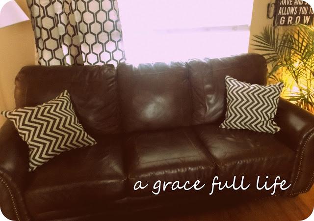 Decorative pillows for a little over 5 bucks each!