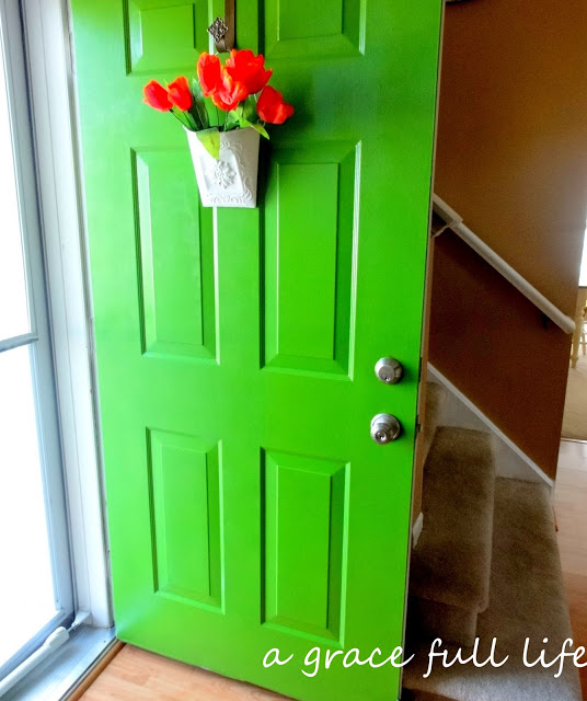 new green front door