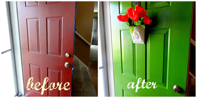 Before and after front door