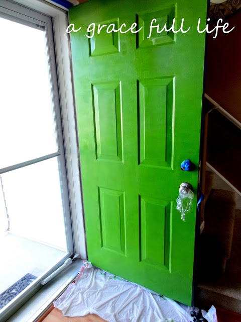 in the process of painting our front door