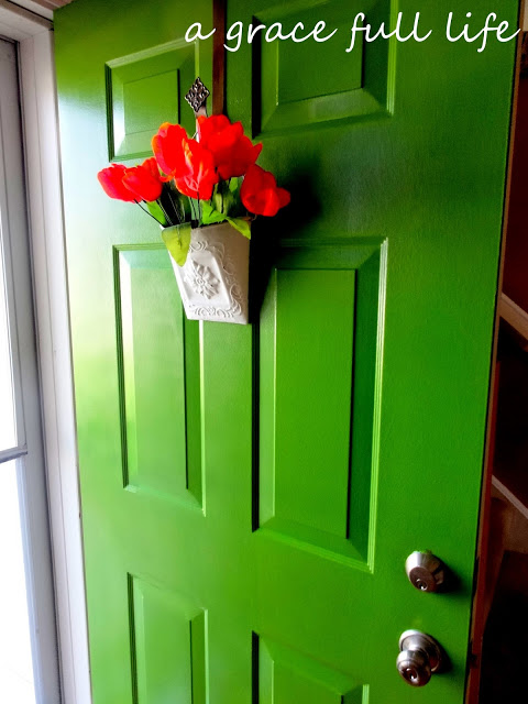 A Grace Full Life Green front door