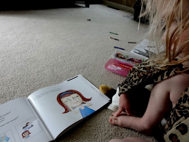 My daughter reading book