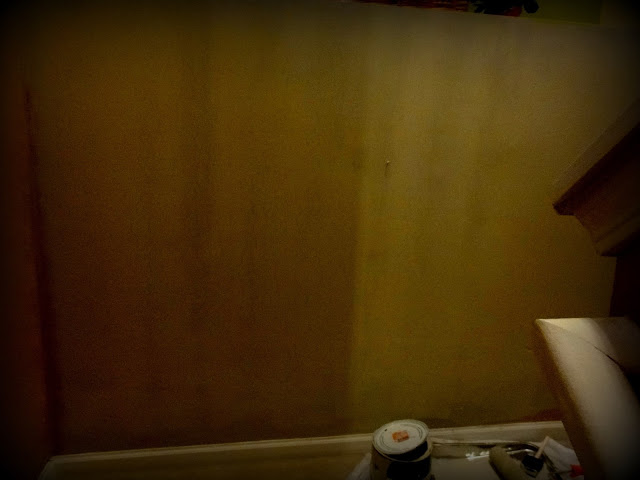My sweet little girl painting the ugly wall