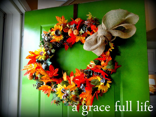 I love this fall wreath so much
