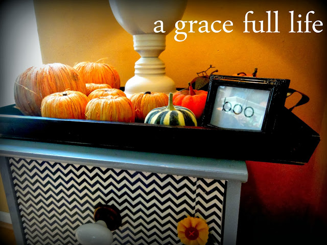 Fall Vignettes are essentially JUNK ON A TABLE