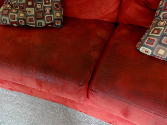 Our ugly red couch