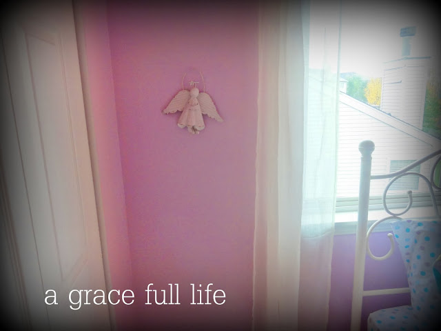 Magical purple in a little girl room