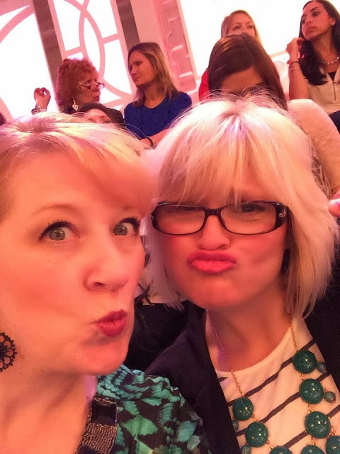 Jen and I doing duck face at the Bethenny show,