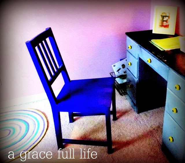 chair in little girl room