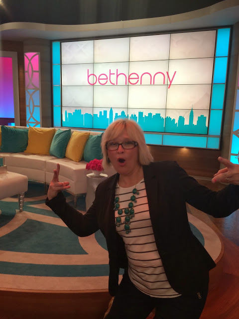 Kari on the set of the Bethenny Show
