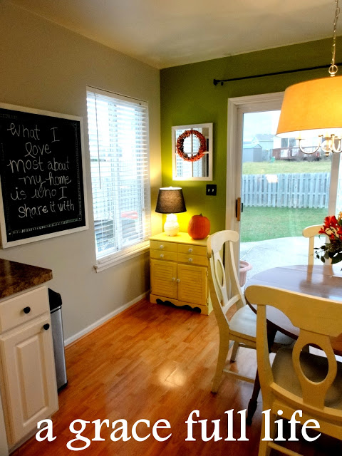 I love our green kitchen