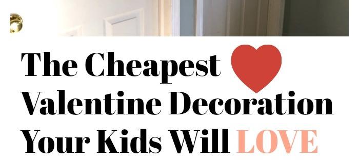 valentines, construction paper, kids, kids craft, kids valentine craft, valentine door craft, diy, budget