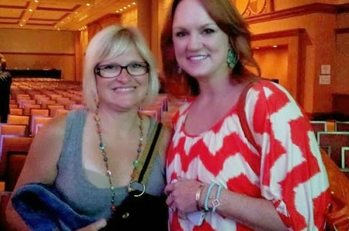 Me and Ree Drummond. And my bra.
