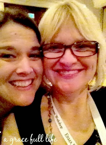 Shannon and I at Erma Bombeck Workshop