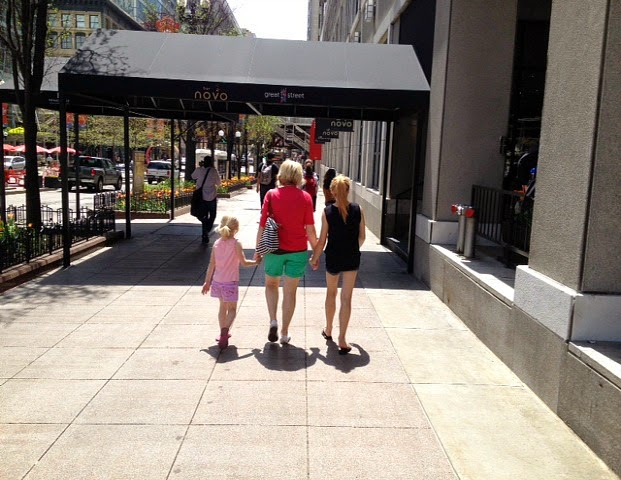 Walking in Chicago with my girls