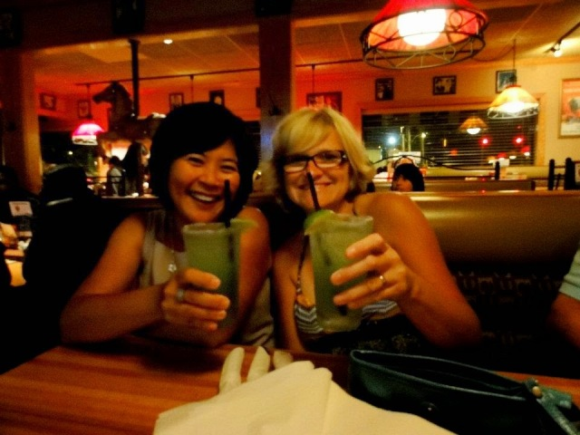 Rebecca and I with our margaritas