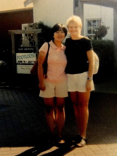 Rebecca and I in Nappanee Indiana