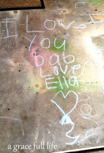 Ella's note to daddy