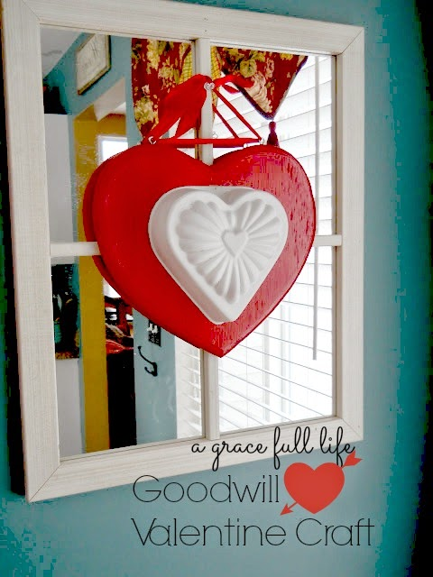 Goodwill Valentine Craft Made from Kitchen Items