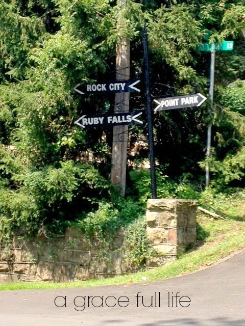 I love the South. Ruby Falls Rock City