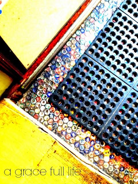 Bottle cap floor in Chattanooga Tennessee