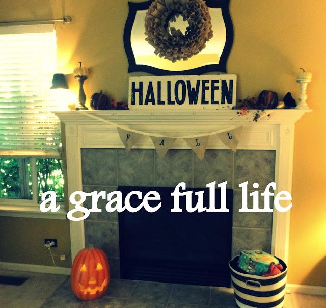 Homemade Fall Mantel 2012