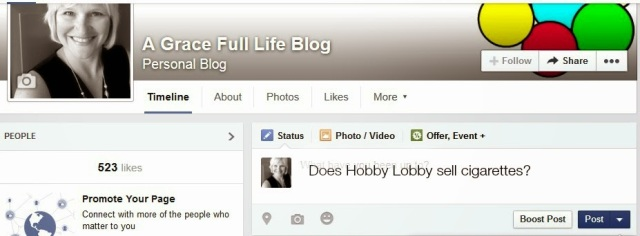 Facebook Does Hobby Lobby Sell Cigarettes