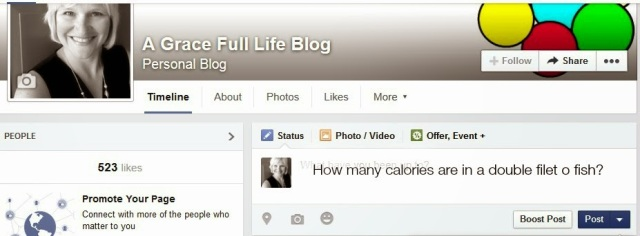 FB Status How many calories in a filet o fish?