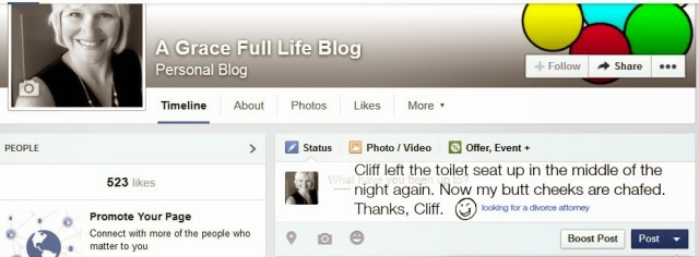 Facebook dream status Cliff