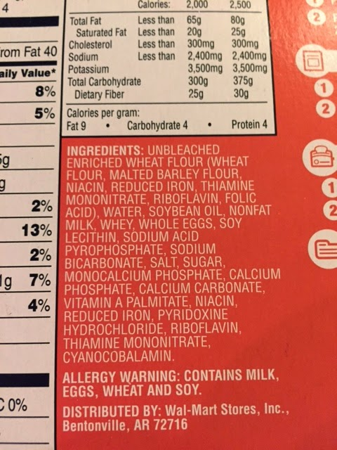 Do you see all of the ingredients in frozen store waffles??