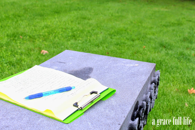 writing at John Hughes grave