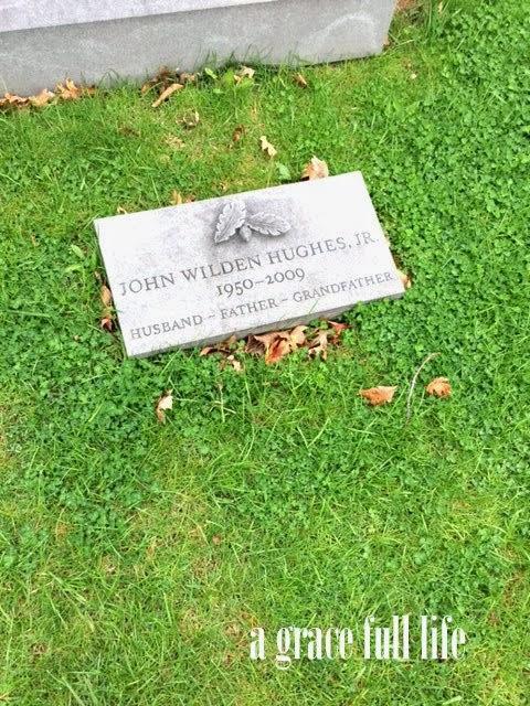 John Hughes grave stone