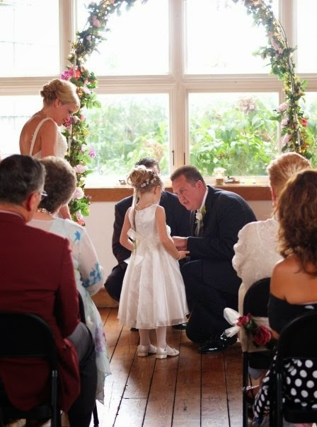stepdad reciting vows to stepdaughter
