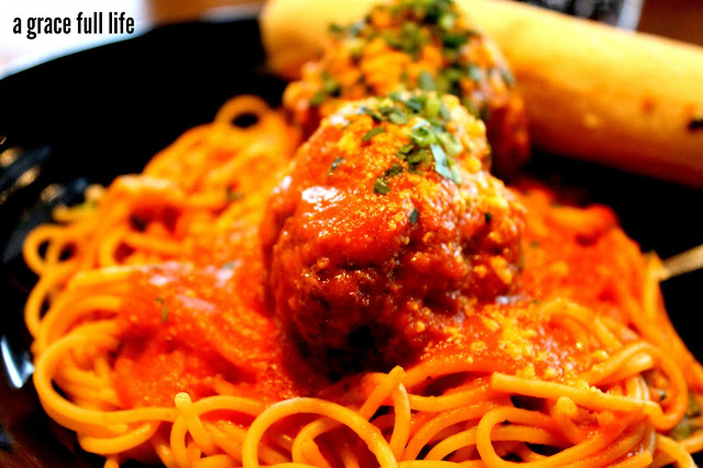 spaghetti at Go Roma