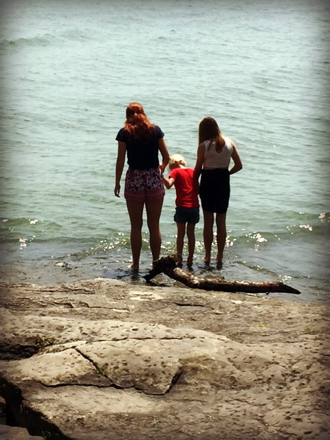 girls by Lake Erie