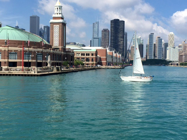 Navy Pier on Lake Michigan