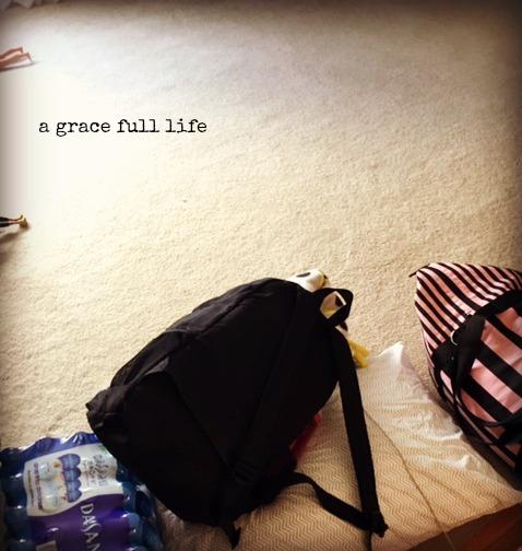 camp luggage summer