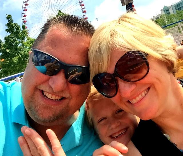 family of three on Shoreline Chicago