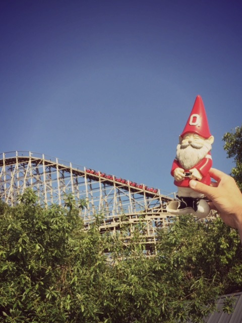 Buckeye gnome at Cedar Point