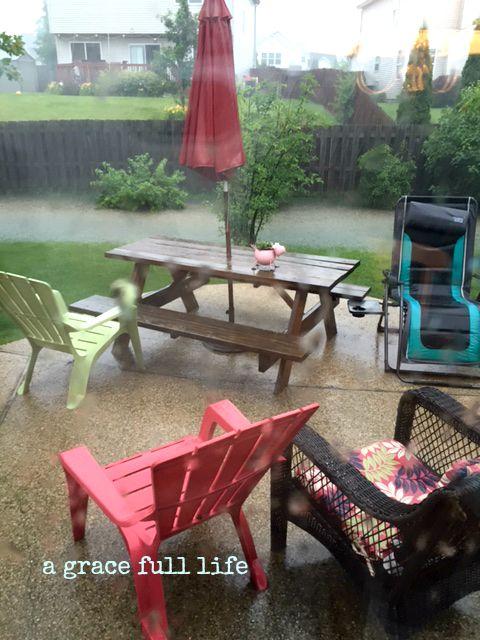 summer rain storm Chicago