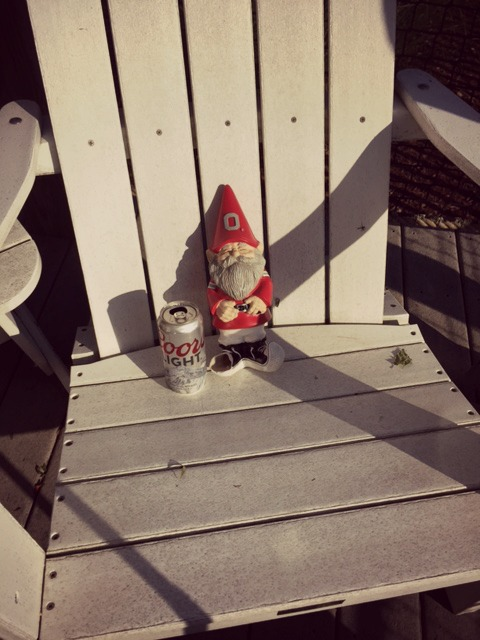 Buckeye gnome drinking Coors Light