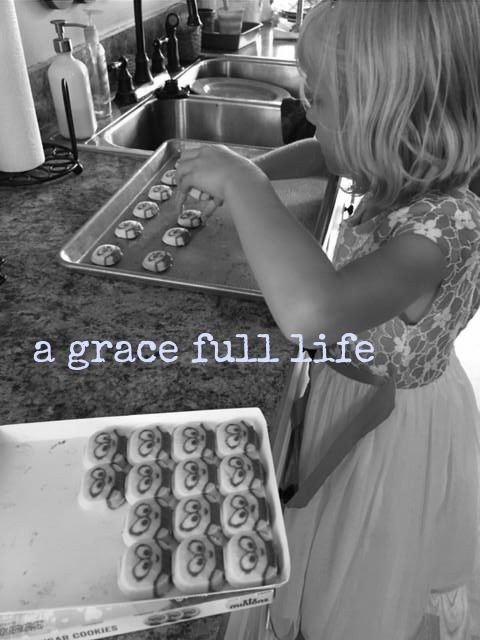 making cookies in a dress