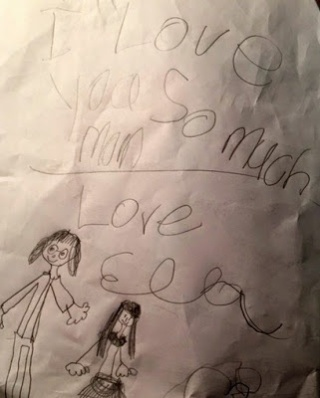 love note from my six year old