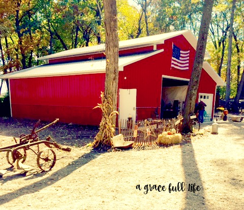 Red Barn Autumn Drive
